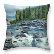 Coming Water Throw Pillow