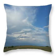 Coming Weather Throw Pillow