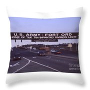 Fort Ord  Commander  Major General Marvin L. Covault  7th Infantry Division 1992 Throw Pillow