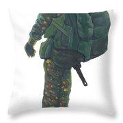 Commando 02 Throw Pillow