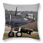 Commemorative Air Force - Douglas Sbd Dauntless Throw Pillow