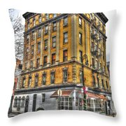 Commerce Street Architecture Throw Pillow