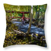 Commerce Twp. Mill Race Park Throw Pillow
