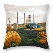 Commercial Fishing In The North Atlantic Throw Pillow
