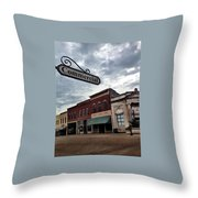 Commercial St Throw Pillow