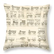 Commercial Wagons  1881 Throw Pillow