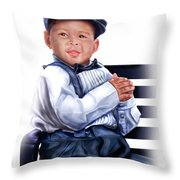Commissioned - Handsome Baby Boy 1a Throw Pillow
