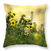 Common Brighteyes Natural Bouquet Throw Pillow