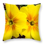Common Primrose 1 Throw Pillow