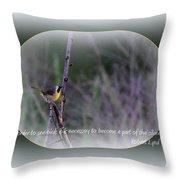 Common Yellowthroat - Bird Throw Pillow