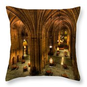 Commons Room Cathedral Of Learning University Of Pittsburgh Throw Pillow by Amy Cicconi