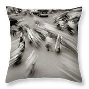 Urban Swirl Throw Pillow
