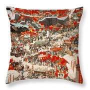 Communist Revolution 1949 Throw Pillow
