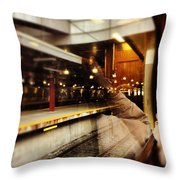 Commuter Life Throw Pillow
