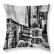 Com'n To Town For Supplies Throw Pillow