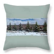 Como Roundhouse Backside Throw Pillow by Ken Smith