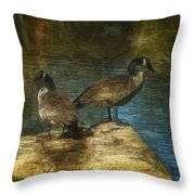 Companions Throw Pillow by Jack Zulli