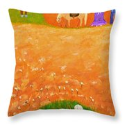 Company Come To Call Throw Pillow