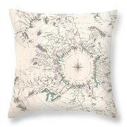 Comparative Map Or Chart Of The Worlds Great Rivers Throw Pillow