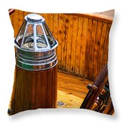 Compass And Bright Work Old Sailboat Throw Pillow