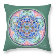 Compassion Mandala Throw Pillow