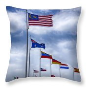 Competing Countries V2 Throw Pillow