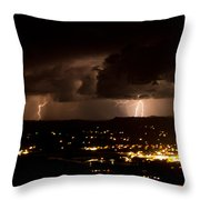 Competing Storms Throw Pillow