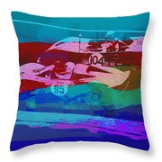 Competition Throw Pillow by Naxart Studio