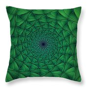Complex Convexity Cavern Moss And Blue Throw Pillow