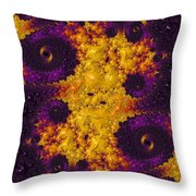 Complimentary - Yellow And Purple Throw Pillow