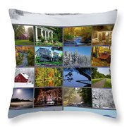 Composite Of Photographs From Various Throw Pillow