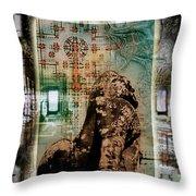 Composition Based On Angkor History Throw Pillow