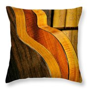 The Shape Of Music Throw Pillow