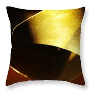 Composition In Gold Throw Pillow