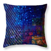 Compute Abstract Throw Pillow