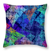 Computer Generated Abstract Julia Fractal Flame Throw Pillow