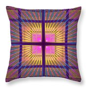 Computer Generated Fractal Squares Geometric Pattern Throw Pillow