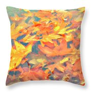 Computer Generated Image Of Autumn Throw Pillow