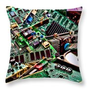 Computer Parts Throw Pillow
