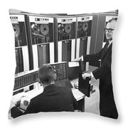 Computers Used At Gmc Throw Pillow