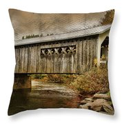 Comstock Bridge 2012 Throw Pillow by Deborah Benoit