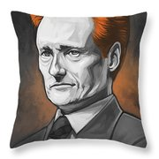 Conan O'brien Artwork Throw Pillow