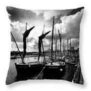 Concarneau Harbour Brittany France Throw Pillow