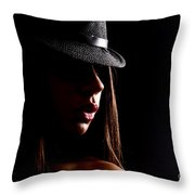 Concealed Lips Throw Pillow