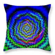 Concentric Hypnotic Circles 1 Throw Pillow
