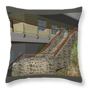 Concept Railing Throw Pillow