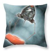 Conceptual Image Of A Nanobot Injecting Throw Pillow