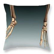 Conceptual Image Of Bones In Human Legs Throw Pillow