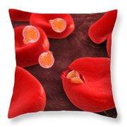 Conceptual Image Of Plasmodium Throw Pillow