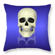 Conceptual View Of Human Skull Throw Pillow by Stocktrek Images